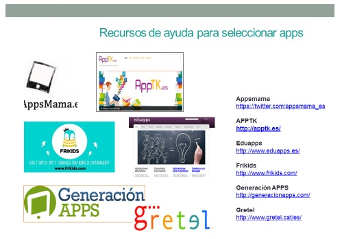 Espacios de recomendación  de apps para niños y jóvenes