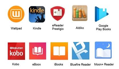 Aplicativos para a leitura digital analisados