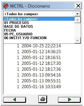 Estructura de campos  simulados en la FST presentes en el Diccionario